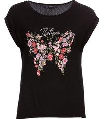 maglia con farfalla (nero) - bodyflirt