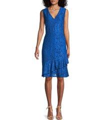sam edelman women's lace sheath dress - blueberry - size 6