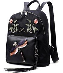 mochilas/ las mujeres de la moda mochila bolsos de-negro