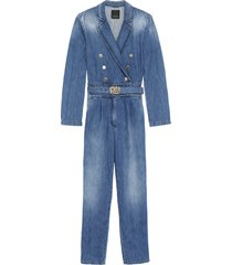 pinko perry long denim jumpsuit