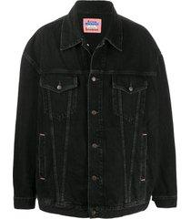 acne studios jaqueta jeans oversized - preto