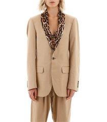 blazer with animal print