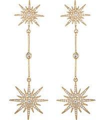 arya north star cubic zirconia drop earrings