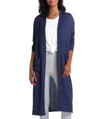 h halston women's open front long sleeves cardigan