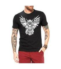 camiseta criativa urbana coruja tattoo