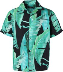 banana leaves silk pajama shirt