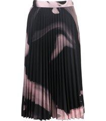 off-white liquid melt plisse skirt