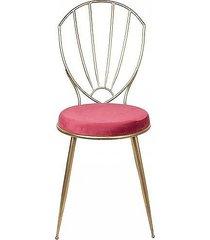 krzesło metalowe złote sally