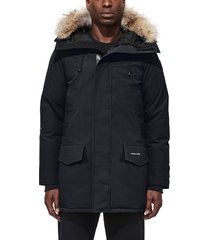 men's canada goose langford slim fit down parka with genuine coyote fur trim
