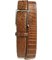 men's torino caiman leather belt, size 42 - antique pecan