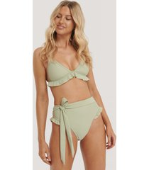 na-kd swimwear bikinitrosa med hög midja - green
