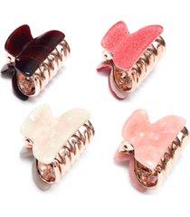 inc 4-pc. multicolor hair clip set, created for macy's