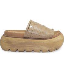 sandalia de cuero natural vemmas dali