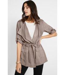 viscose blousejasje met revers