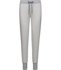 l. pants long pyjamasbyxor mjukisbyxor vit skiny