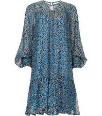 jurk met print joelle  blauw