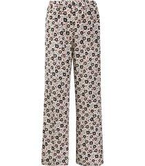 aspesi floral-print silk trousers - white