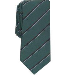 alfani men's clarkson slim stripe tie, created for macy's