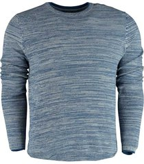 bos bright blue jack - r-neck pullover struct 21105ja07sb/240 blue
