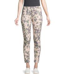 wildfox women's camo fleece jogging pants - beige multi - size xs