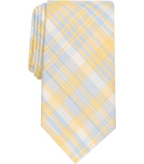club room men's mckay slim plaid tie, created for macy's
