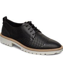 incise tailored snörade skor låga svart ecco