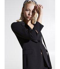 motivi giacca blazer con collo fusciacca donna nero