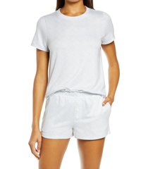 women's emerson road ribbed short pajamas, size x-large - white
