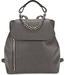 the statement series western chain faux leather backpack