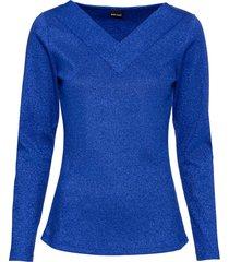 maglia a costine in lurex (blu) - bodyflirt