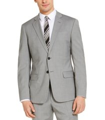 armani exchange men's classic-fit light grey suit jacket, created for macy's