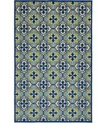 "kaleen a breath of fresh air fsr104-17 blue 2'1"" x 4' area rug"