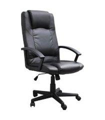 cadeira poltrona diretor giratória trevalla tl-cde-05-1 preta