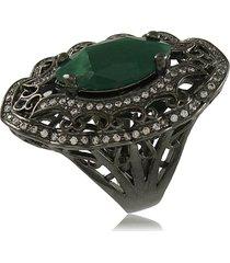 anel viva jolie menta - verde militar - feminino - dafiti