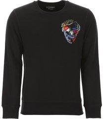 alexander mcqueen sweatshirt with embroidered skull