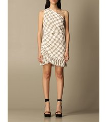 elisabetta franchi dress elisabetta franchi short dress with all-over pattern