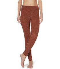 calzedonia glitter comfort leggings woman orange size m