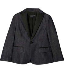 dsquared2 black blazer