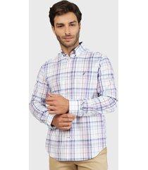 camisa nautica multicolor - calce regular