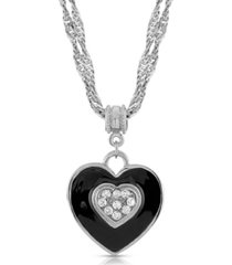 2028 enamel and swarovski crystal heart necklace