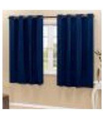 cortina blackout pvc marinho corta luz 2,80m x 2,80m
