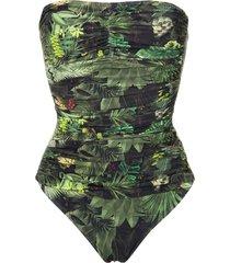 lygia & nanny melissa strapless swimsuit - green