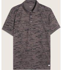 camiseta polo con textura rayas-l