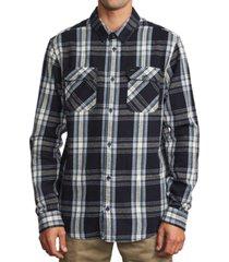 rvca men's reverberation flannel shirt
