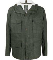 c.p. company multi-pocket hooded goggle jacket - green