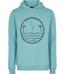 anerkjendt hoodie sweater blauw 9220703/3053