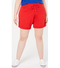 tommy hilfiger sport plus size cuffed shorts