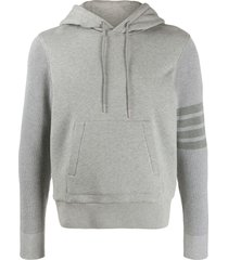 4-bar sleeve hooded sweatshirt