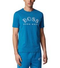 boss men's tee 1 bright blue t-shirt