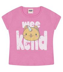camiseta t-shirt duzizo com estampa rosa chiclete